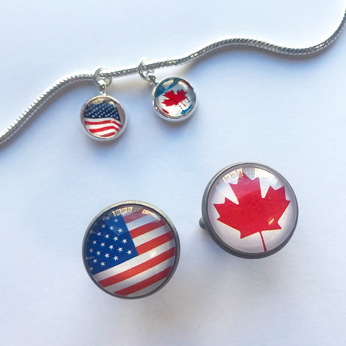 Personalised Travel Flag: Cuff Links