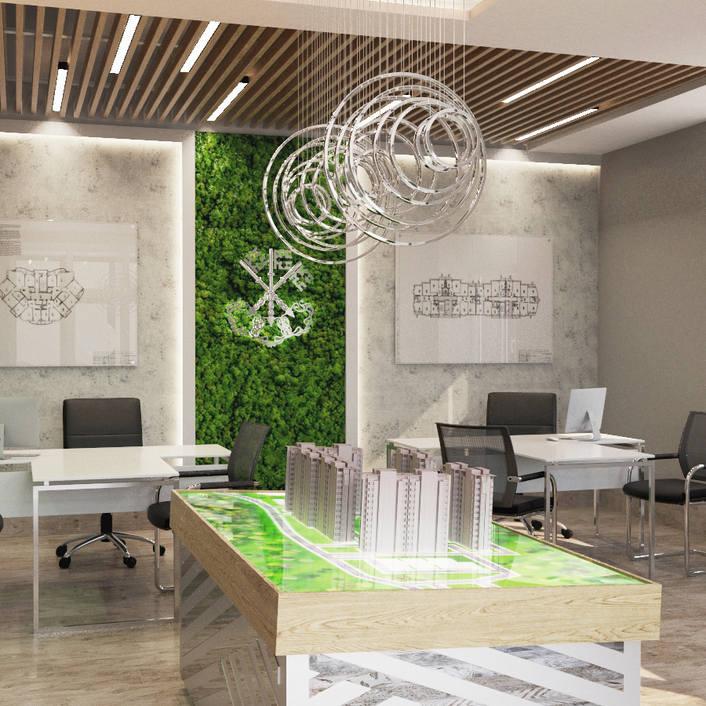 современный дизайн офиса продаж