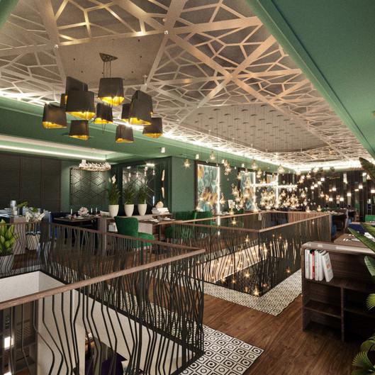 Малый зал. Ресторан KASPIY