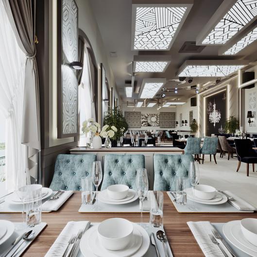 Банкетный зал. Ресторан KASPIY