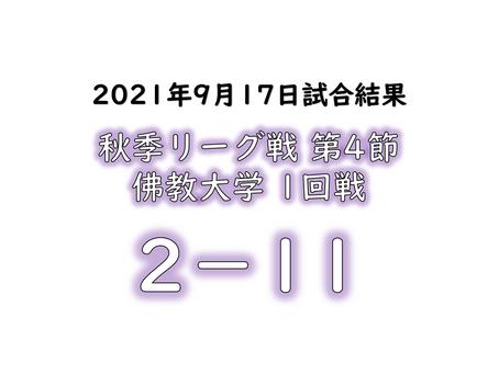 リーグ戦試合結果【佛教大学1回戦】