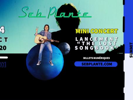 Seb Plante fête la sortie de son album et vous invite à son mini concert virtuel le samedi 24 oct!