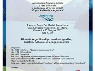 """Copa de golf """"Embajada Argentina"""" en Italia"""
