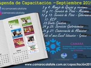 Agenda de Capacitaciones de Septiembre