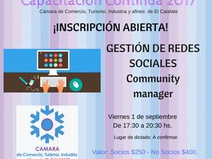 """Septiembre: Gestión de redes sociales """"Community manager"""""""