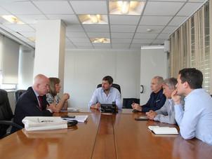 El Ministro Lammens recibió a las autoridades de la Federación