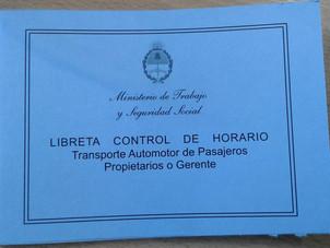 Hay disponibilidad de Libretas de control de horario de Transporte
