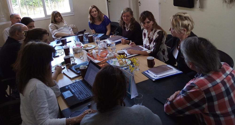 Reunión con la Lic Valeria Pelliza y su equipo en nuestra Sede, Enero 2019