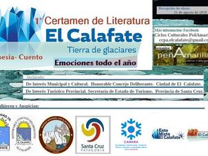 """1er Certamen Literario Nacional 2018: """"El Calafate, Tierra de Glaciares, emociones todo el año."""""""