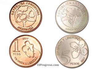 El Banco Central lanzará nuevas monedas de 1 y 5 pesos