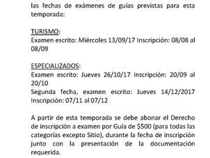 """Fecha de exámenes para Guías del PN """"Los Glaciares""""."""