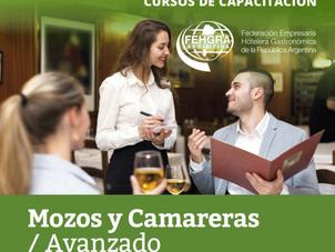 """Mañana cierra la inscripción al Curso"""" Mozos y Camareras- Nivel Avanzado"""""""