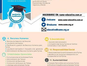 64 cursos online gratis de un mes de duración ofrecidos por CAME EDUCATIVA