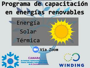 Programa gratuito de Capacitación en energías renovables 3° Curso