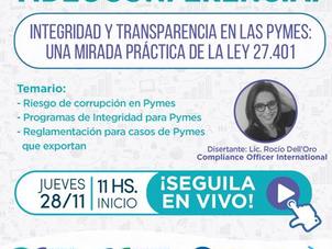 Videoconferencia de CAME Educativa sobre Transparencia e Integridad en las Pymes