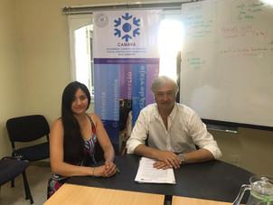 Firma de convenio por Canasta Escolar 2020