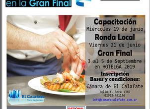 El 21 de junio se realiza la Ronda Local del Torneo Federal de Chef 2019.