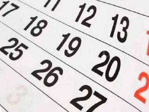 Calendario de feriados nacionales 2020