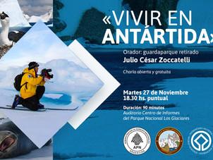 Charla sobre exploraciones en la Antártida