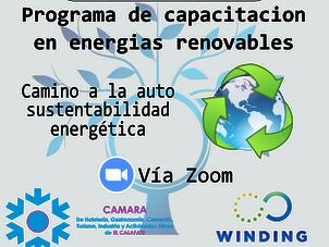 Programa gratuito de Capacitación en energías renovables