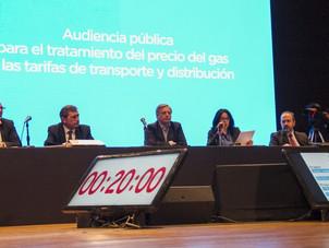 Informe de intervención en audiencia pública por tarifas de gas