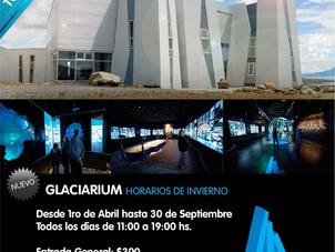 """Nuevos horarios de """"Glaciarum"""""""
