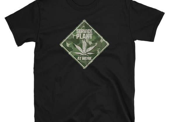 Camo Service Plant at Work T-shirt