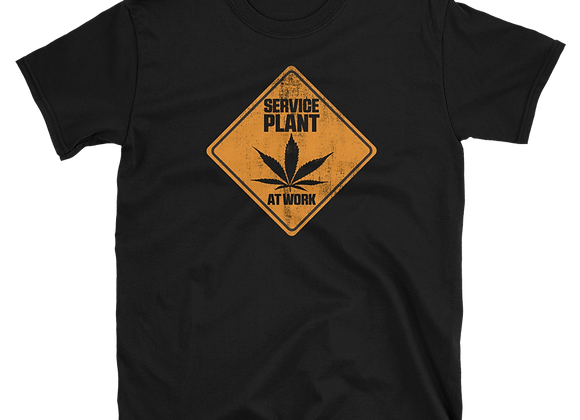 Yellow Service Plant at Work T-shirt