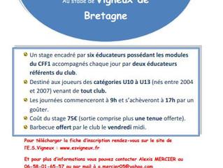 Stage de foot à Vigneux