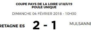 Coupe Pays de Loire U18-U19