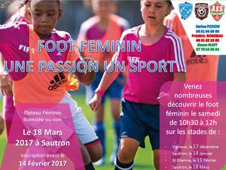 """Foot féminin """"Une passion un sport"""""""