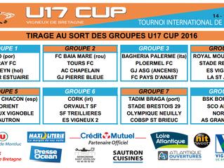 Tirage au Sort de la U17 CUP 2016