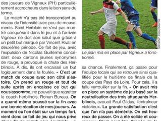 OUEST FRANCE : 16e de finale CPL
