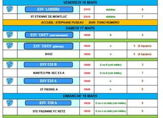 Planning du week-end