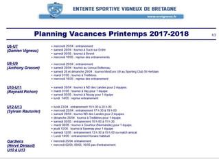 Programme Vacances Printemps