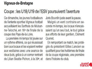 U18 Article Ouest France