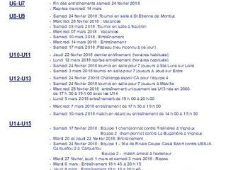 Programme vacances Hiver 2018