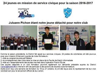 Juluann Pichon notre jeune en service civique.