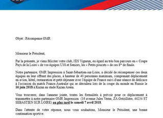 Récompense OMR