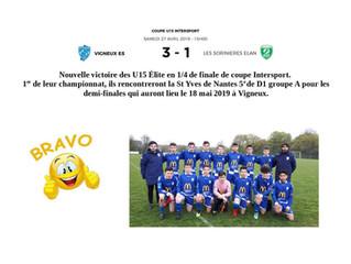 U15 : 1/4 de finale