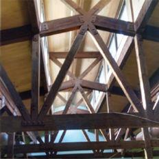 heavy timber truss finishing