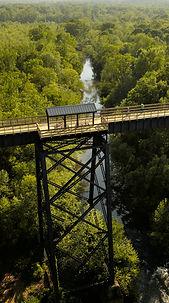Dapped Wood Bridge Timbers