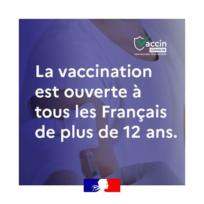 Vaccination ouverte +12 ans