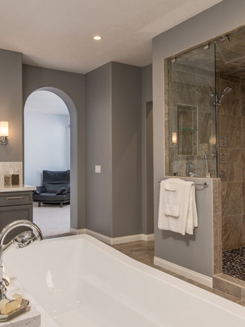 Beautiful Bathroom With His And Hers Sinks