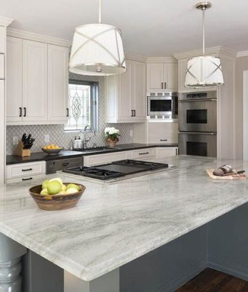 Kitchen Renovation with Granite Island Counter Top