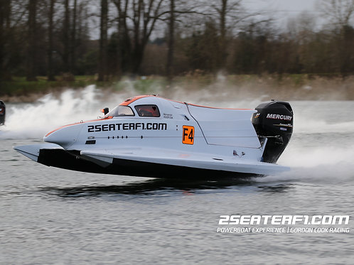 F4 Powerboat Driving Experience with 2 Seater F1