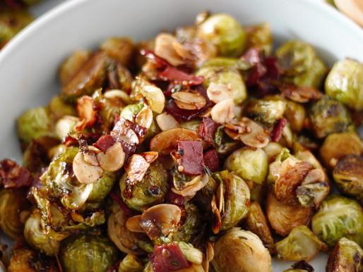 Ζεστή σαλάτα με φρέσκα λαχανάκια Βρυξελλών