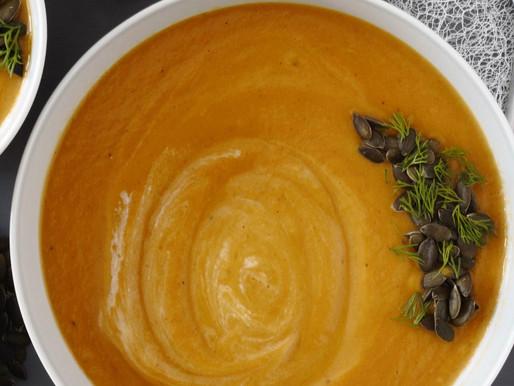 Κολοκυθόσουπα με κάρυ και γάλα καρύδας