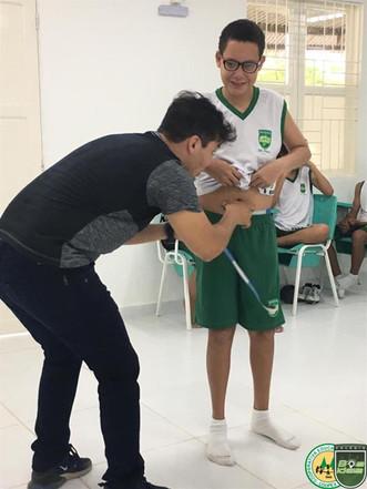 Departamento de Educação Física da Coopex - Colégio Boa Ideia realiza exames biométricos nos alunos.