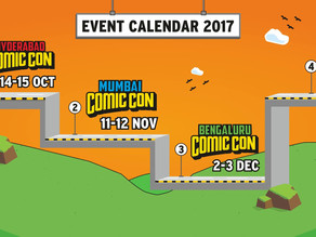 Comic Con India Revealed Its 2017 Event Calendar!